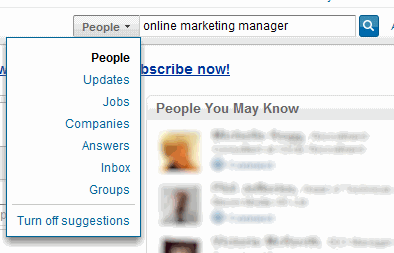 Searching in LinkedIn - Easy