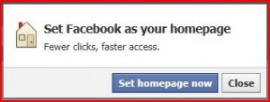 Want Facebook as you home page?