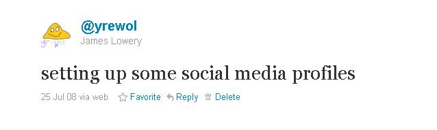 My First Ever Tweet