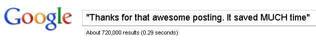 720,000 awesome posts saving time...