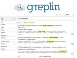 Filter Social Search by type with Greplin